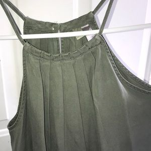 Francesca's Mock denim/linen tank top (Alya)